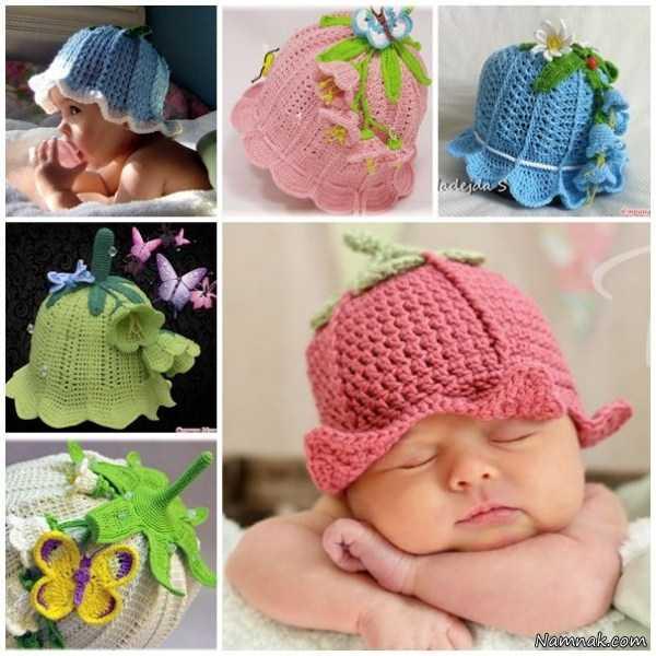 کلاه بافتنی نوزاد دختر
