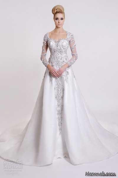 لباس عروس دانتل خارجی