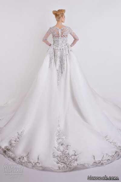 لباس عروس دنباله بلند