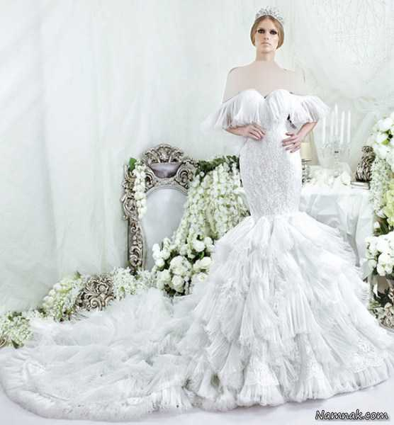 لباس عروس جدید مدل ماهی