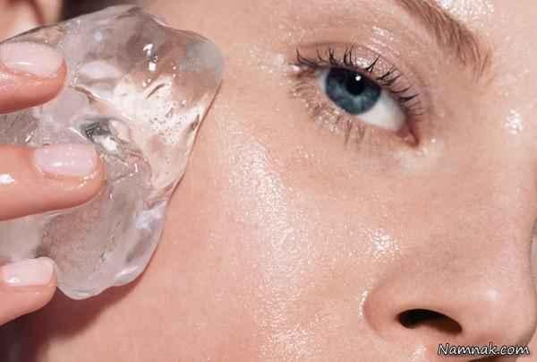 درمان جوش با یخ