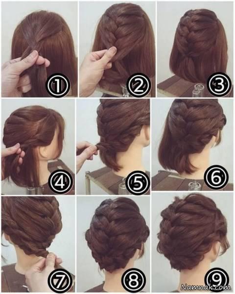 مدل مو دخترانه مجلسی ساده برای موهای کوتاه