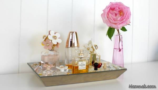 تزیین با شیشه های عطر