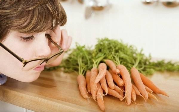 هویج برای بینایی کودک