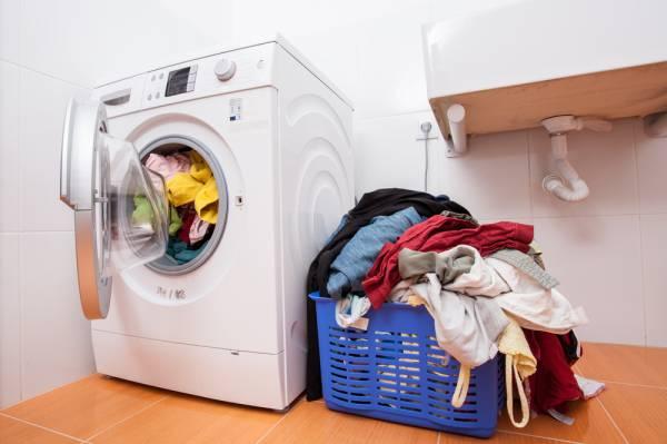 ذخیره لباس در ماشین لباسشویی