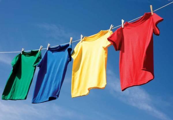 خشک کردن لباس ها