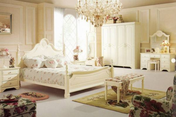 اتاق خواب سفید عروس