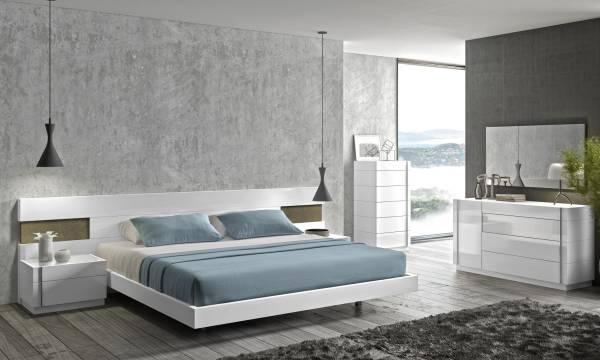 دکوراسیون سفید و مدرن اتاق خواب