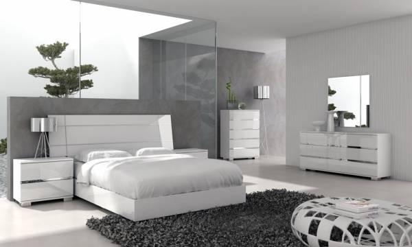 سرویس خواب سفید رنگ مدرن