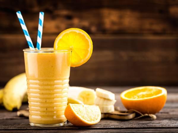اسموتی پرتقال و موز