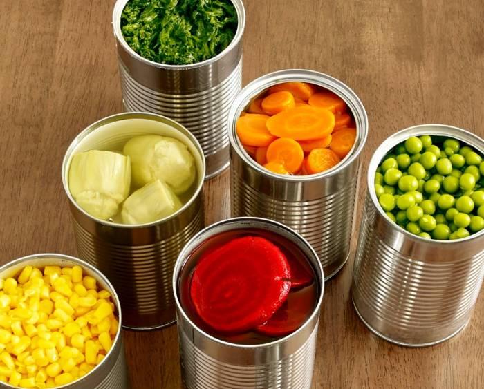 کنسرو سبزیجات