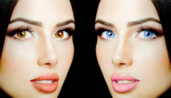 روشن کردن رنگ چشم ها
