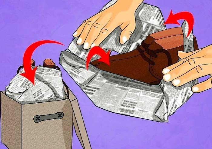 بسته بندی چرم با روزنامه