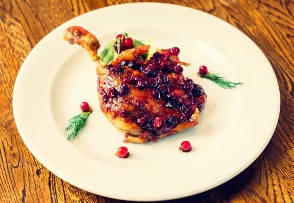 گوشت مرغابی سوخاری