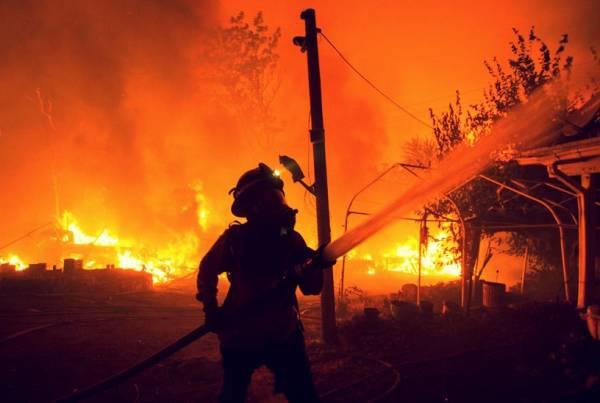 مناطق اطراف آتش سوزی