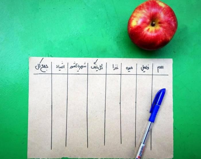 جدول اسم فامیل