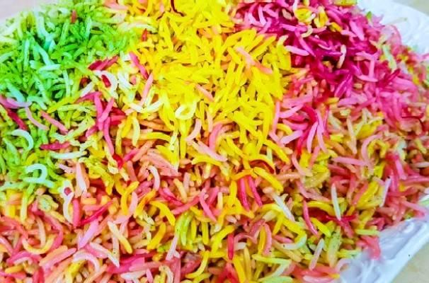برنج رنگی رنگی