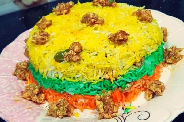 طرز تهیه برنج رنگارنگ