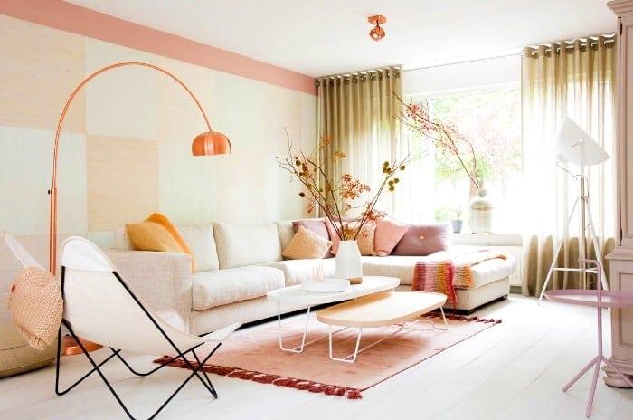 خانه با رنگ پاستلی